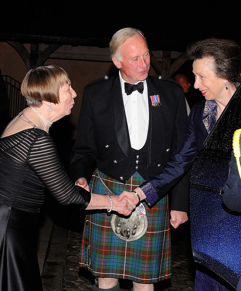 Greeting Provost and Princess Anne